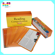 Box package book printing cheap price spiral bound notebook printing for students