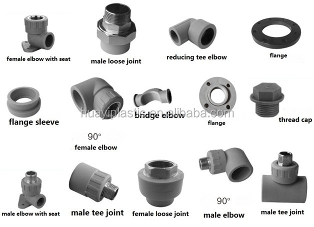 Plumbing fittings names for Types of plumbing pipes