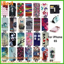 Thanksgiving gifts angel leather pc cover printing wallet case for iphone 6/6s