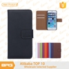 BRG cell phone case wholesale price Plain Weave Pattern Protective Shell leather Case Cover With Card Slots for iphone 6 plus