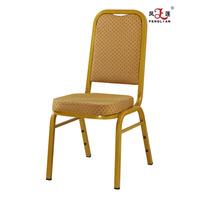 2016 new modern design hot sale metal banquet chair modern high back banquet chair
