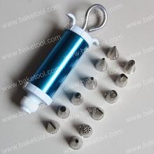De plástico de metal de prensa cookie& punta 13 pcs set, decoración de pasteles de herramientas