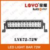 Tuning light 12V 72 watt led light bar double row 4*4 led bar, 13.5 inch 72W led bar work light