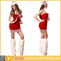 Paypal Accepted Red Short Strapless Wholesale Christmas Dress