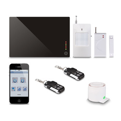 Wireless Key board +House/Villa/Office/Building Home Security GSM Alarm,iOS/Android Application,Quad-band,SMS & Voice Call G1