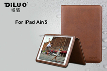 Genuine Real Leather Hand Strap Case With Wallet Slots For iPad Air/5