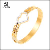 2016 new products gold bracelet 18k heart imitation jewellery in dubai