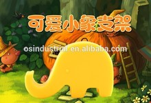 En stock elefante animal de silicona personalizadas smartphone accesorio soporte