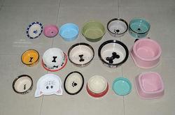 cartoon dog bowls