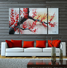 Free Sample 2015 Modern decorative wall hanging flowers Painting