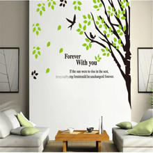 2015 Hot Sale Stickers Home Decoration Norway Forest Tree Living Room/bedroom/study/ Parlour/tv Wall/ Pvc Wall Sticker JM7087