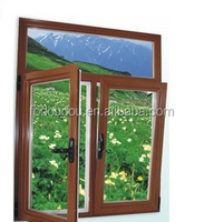 Brand Double Casement Sash Window Aluminum Casement Window For Villa & NZ Fodoudou Aluminium Sliding Window