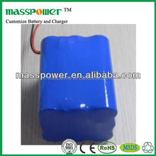 2015 Shenzhen Mini Portable Technology 3S3P li-ion 18650 11.1v 6600mah battery pack
