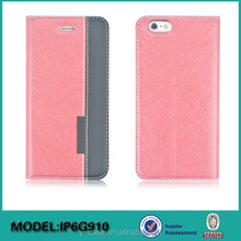 Flip Hard Leather Cover Case For iPhone 6 , cover case for iPhone 6 plus