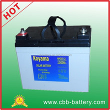 Hot sell KOYAMA 35ah 12V Deep cycle and Gel battery for electric vehicle