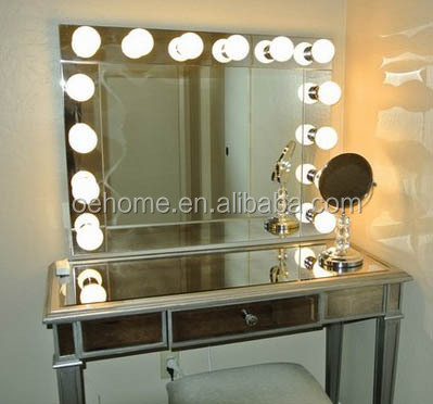 Vanity Table With Lighted Mirror Makeup Mirror - Buy Hollywood Lighted Mirror With Led Light ...