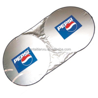 Polyester silver coating double circle front car sun shade