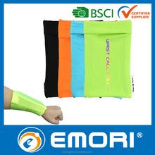 lycra wrist cell phone belt bag