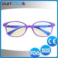 Blue Color Anti Blue Ray Lenses Antiskid Stock Optical Eyeglass Frames Korea