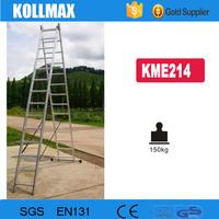 2 section extension aluminum ladder kollmax KME214 6.8M