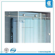 Frameless complete sliding glass enclosed shower enclosure room
