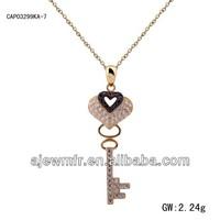 Factory own design Saudi Arabia Gold Key pendant
