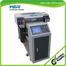 cheap uv inkjet flatbed ,A2 printing size 420*1200mm WER EH4880UV,pvc id card printer