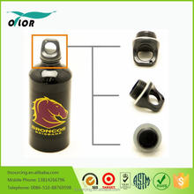 Wholesale good price best quality black water bottle with a horse logo
