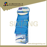 high quality paper cardboard pos display rack for Car Care Products