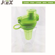 Hot selling plastic fruit infusion water bottle with locking lid