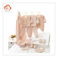 100% organic cotton newborn baby winter clothing 21 pieces