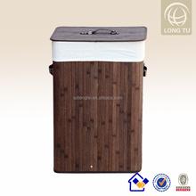 Hogar Morden Rectangular de bambú cesto cestas de lavadero plegable contenedores