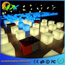 Outdoor RGB Color Changing Night Club/ Party LED Cube,waterproof led cube chair lighting