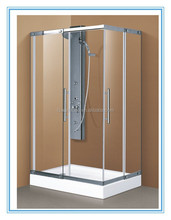 2015 Hot sale Customized Size Stainless Steel Sliding Glass Shower Room door F-910 Australia /CUPC/CSA Standard