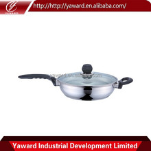 2015 New Products Stainless Steel White As Seen On Tv Ceramic Fry Pan