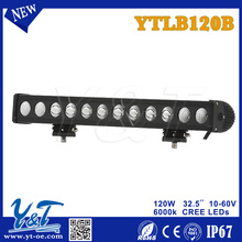 Good quality control light bar 120w led 32.5inch lamp for forklift, truck,motorcycle ytlb120b Type Color Changing Light Bar