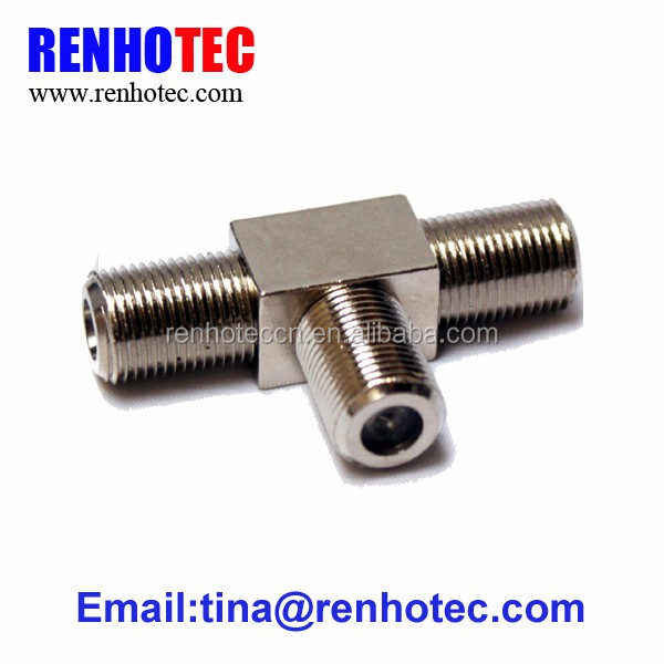 3 Way Tv Cable Connector Male Female F Connector Y Splitter - Buy F ...