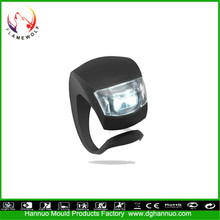Hot sale waterproof CE silicone material battery powered led bike light generator led