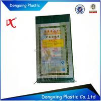 Transparent Propene Polymer woven Bag of rice 50kg