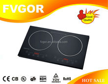 Hot sales!Two plate stainless steel cookware for induction cooker with digital FK23