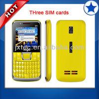 2013 cheap china celular C333 three sim cards mobile phone