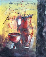 Different Designed Tea Cup Still Life Oil Painting