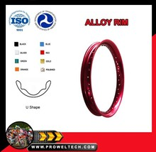 Motorcycle Parts: U 1.60X17 Bright Red motorbike 36 spoke rim/Alloy motorcycle wheels