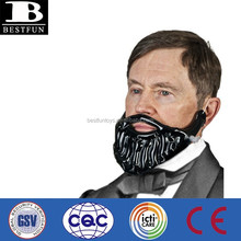 Promotional customized inflatable beard for gentlemen big black beard party props fake mustache beard for sale