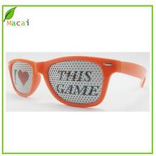 orange color sticker pinhole sunglass