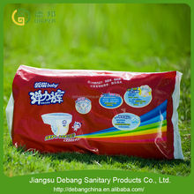 Wholesalers colored disposable baby diapers
