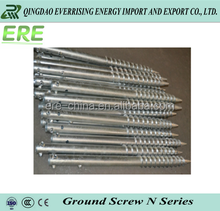 hot dipped galvanized self drilling ground screw with flange for solar farm
