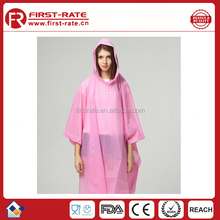 High quality PEVA rain poncho,PEVA rain coat