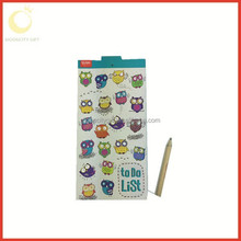 201l best sell Printed Fridge Magnet Notepad with pen