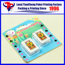 High Quality Custom blister double poker sets card SMALL NAIPES customized paper playing card printing